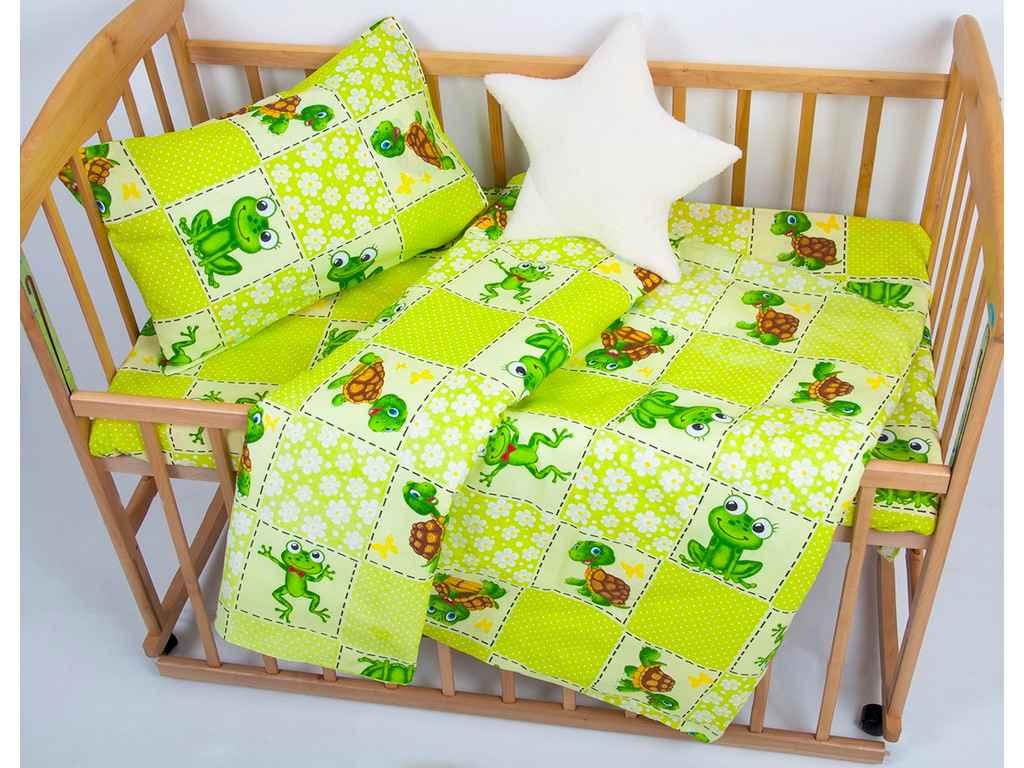 Дитяча Постільна білизна для немовлят ранфорс - JoJo зелена ТМ