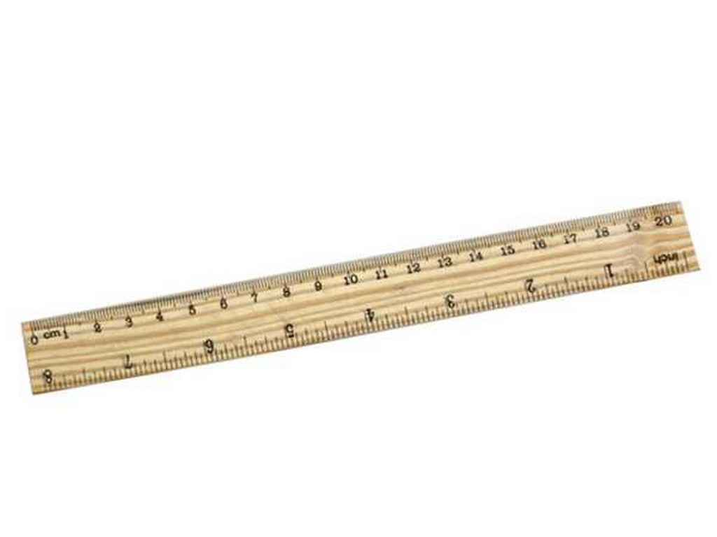 4f29ec23313531 Лінійка дерев'яна, 20см., 20 * 2,5 см 25629 ТМ